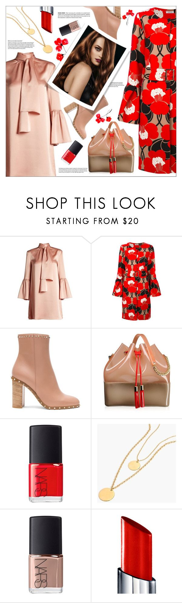 """Untitled #156"" by shewalksinsilence ❤ liked on Polyvore featuring Fendi, P.A.R.O.S.H., Valentino, Kartell, NARS Cosmetics, J.Crew and By Terry"