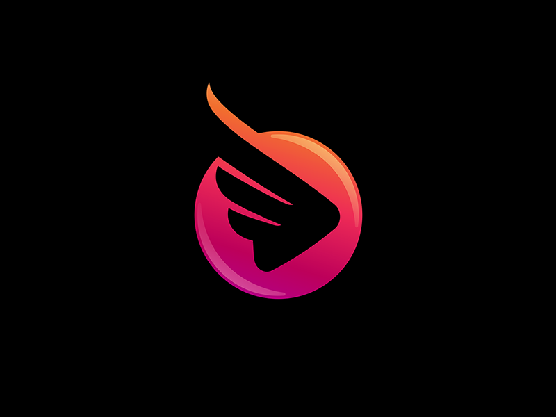 Wings With Play Button Play Button Fashion Logo Wings