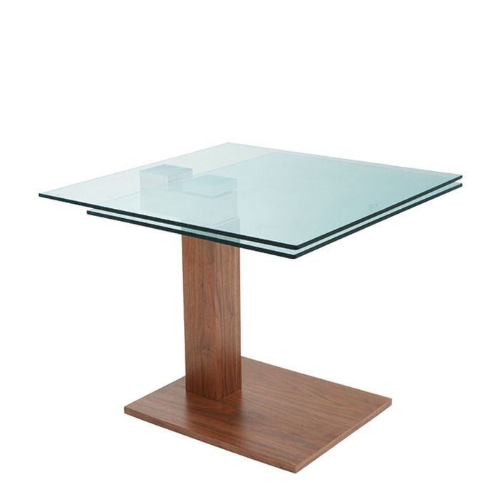 Enzo Square Extending Dining Table Walnut Dwell 799 Dining Table Glass Dining Table Table