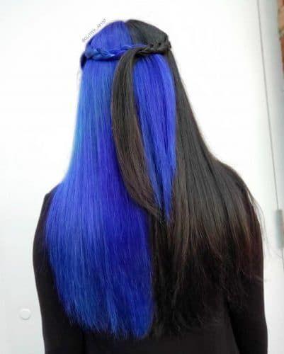 23 Brilliant Split Hair Color Ideas That Ll Make You Dye Your Hair In 2020 Arctic Fox Hair Color Split Dyed Hair Hair Inspo Color