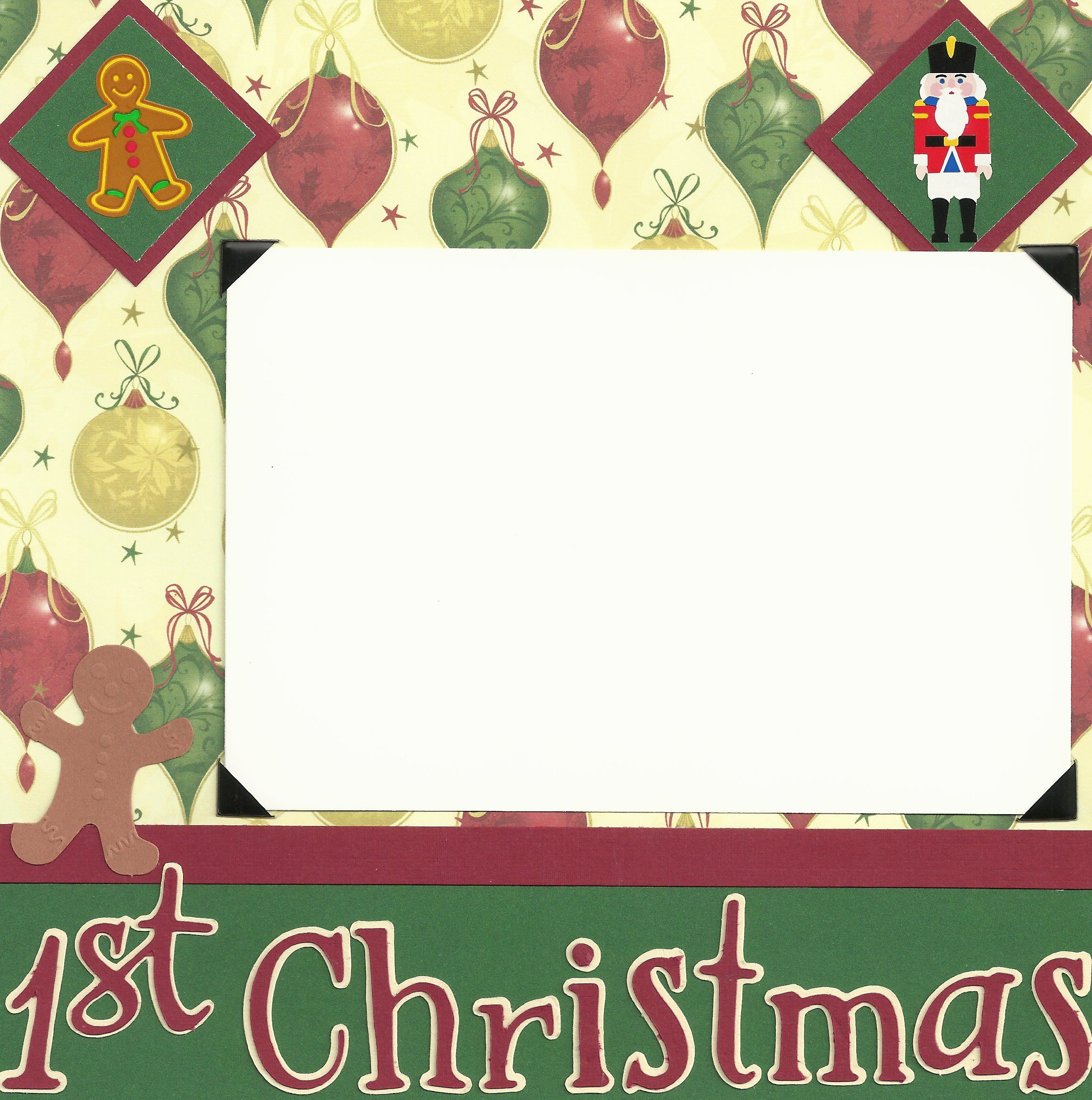 Baby scrapbook page ideas - Baby Scrapbook Page Ideas 8x8 Pages First Christmas