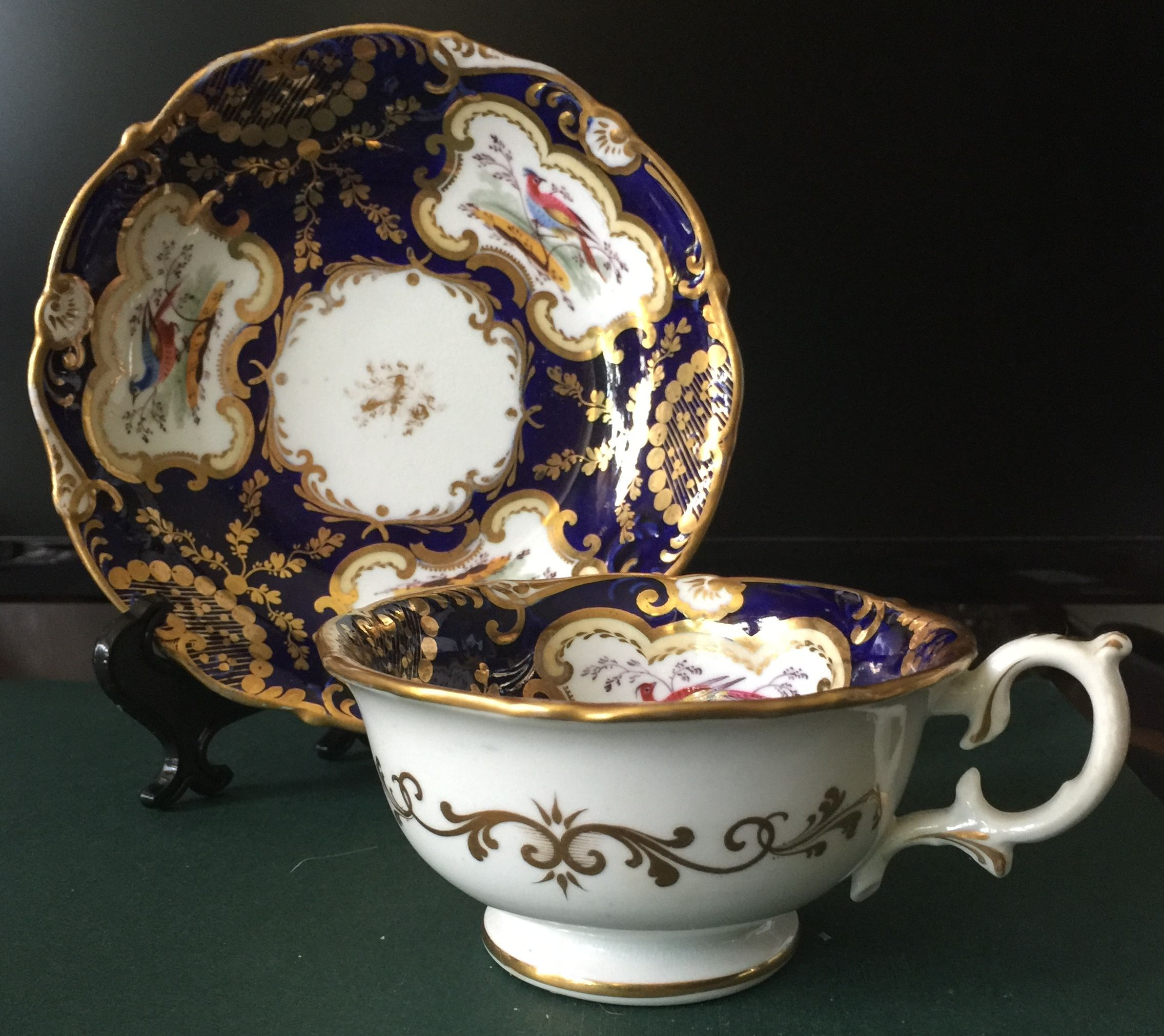 This a pair H. R. Daniel pattern number 6011 teacup and