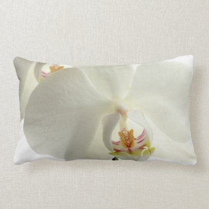 Floral White Flowers Orchid Elegant Modern 2020 Lumbar Pillow Zazzle Com In 2020 White Flowers Floral Gifts Orchids