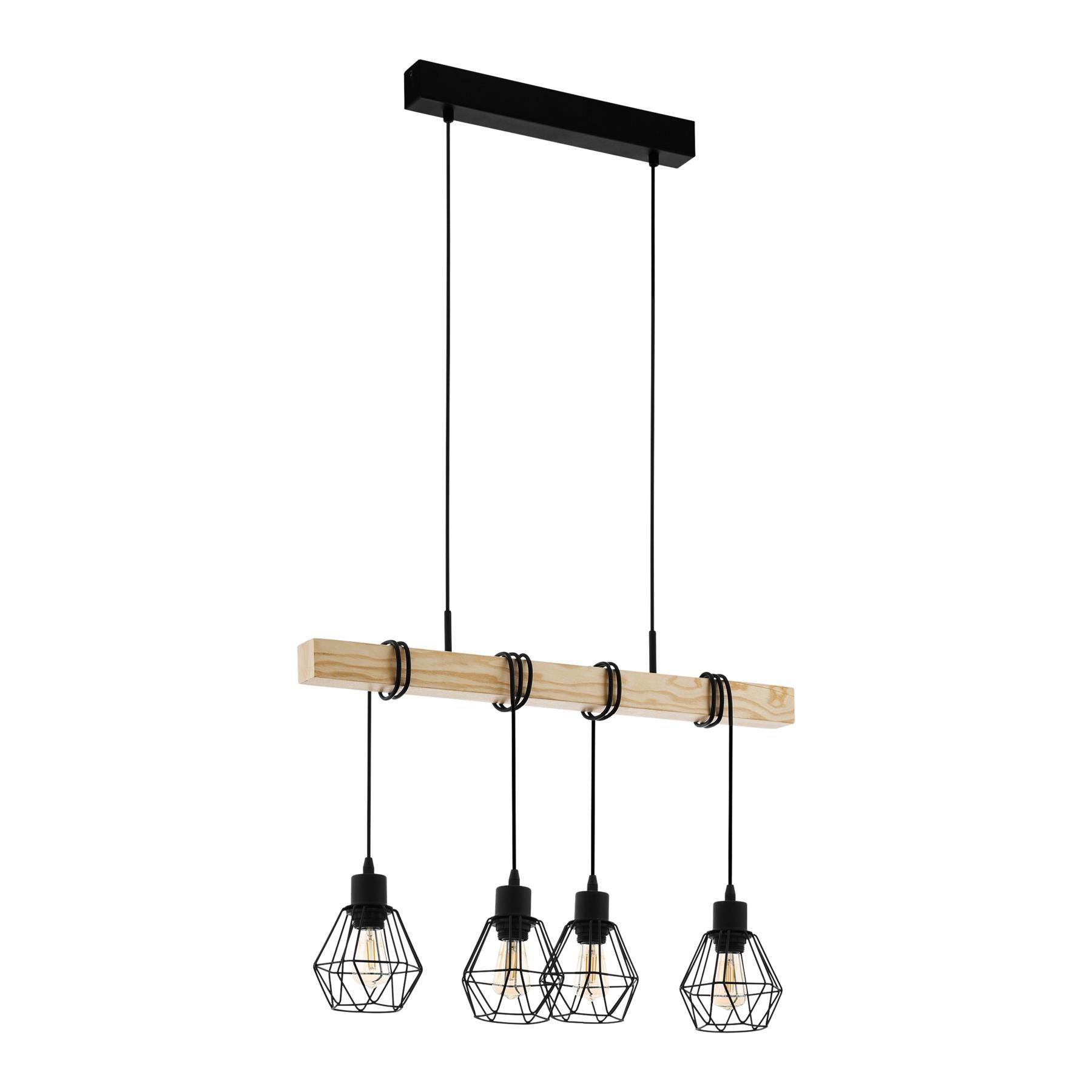 Eglo Townshend 5 Hanglamp Hanglamp Houten Eettafels Hout Afwerking