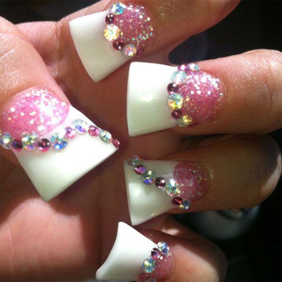 Simple Yet Elegant Pink Acrylic Nail Art Designs & Ideas