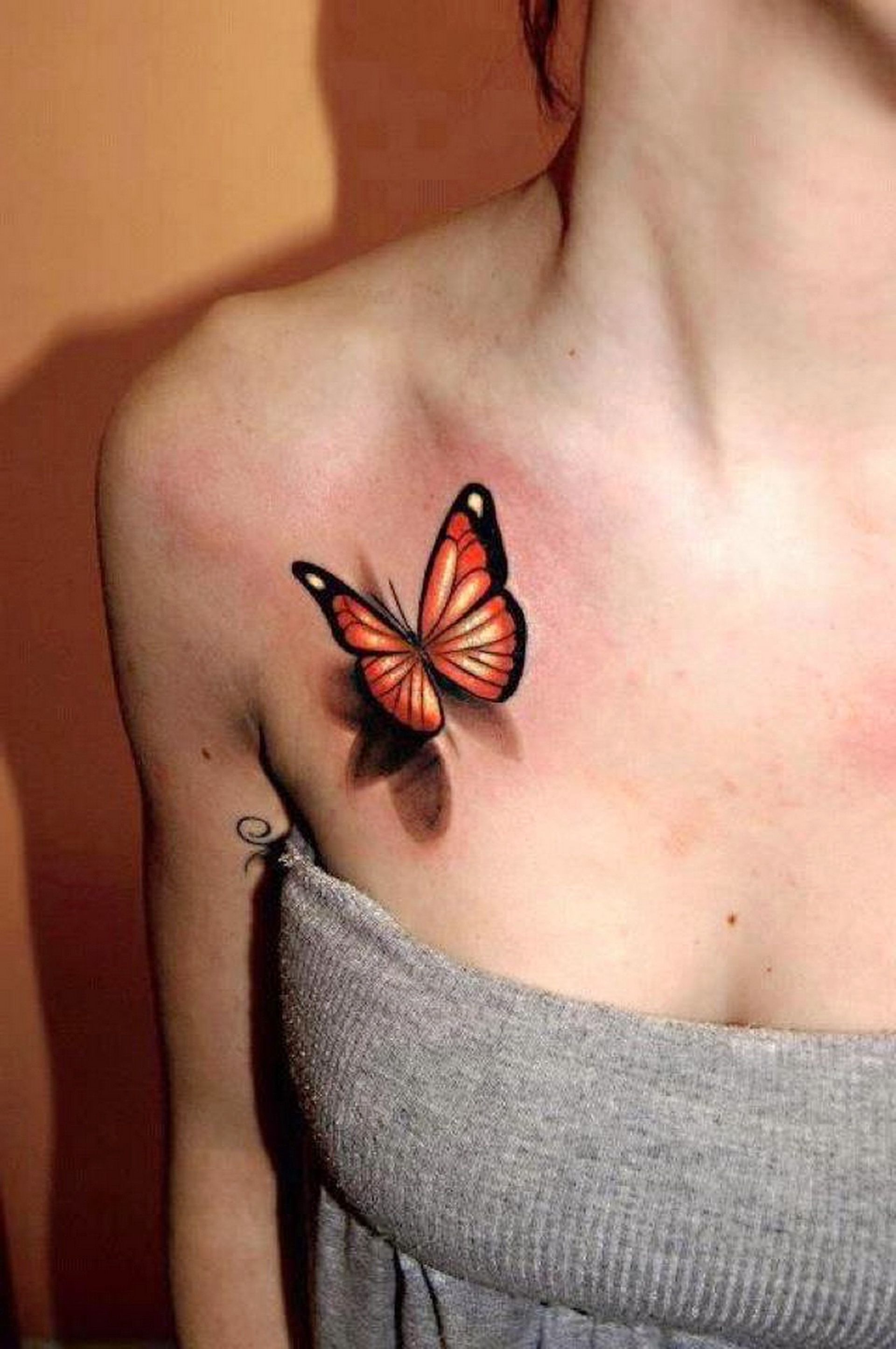 3d Tattoo Designs - Images for 3d monarch butterfly tattoos