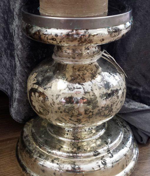Kerzenständer Stumpenkerzen Dekoration Bauernsilber Antik