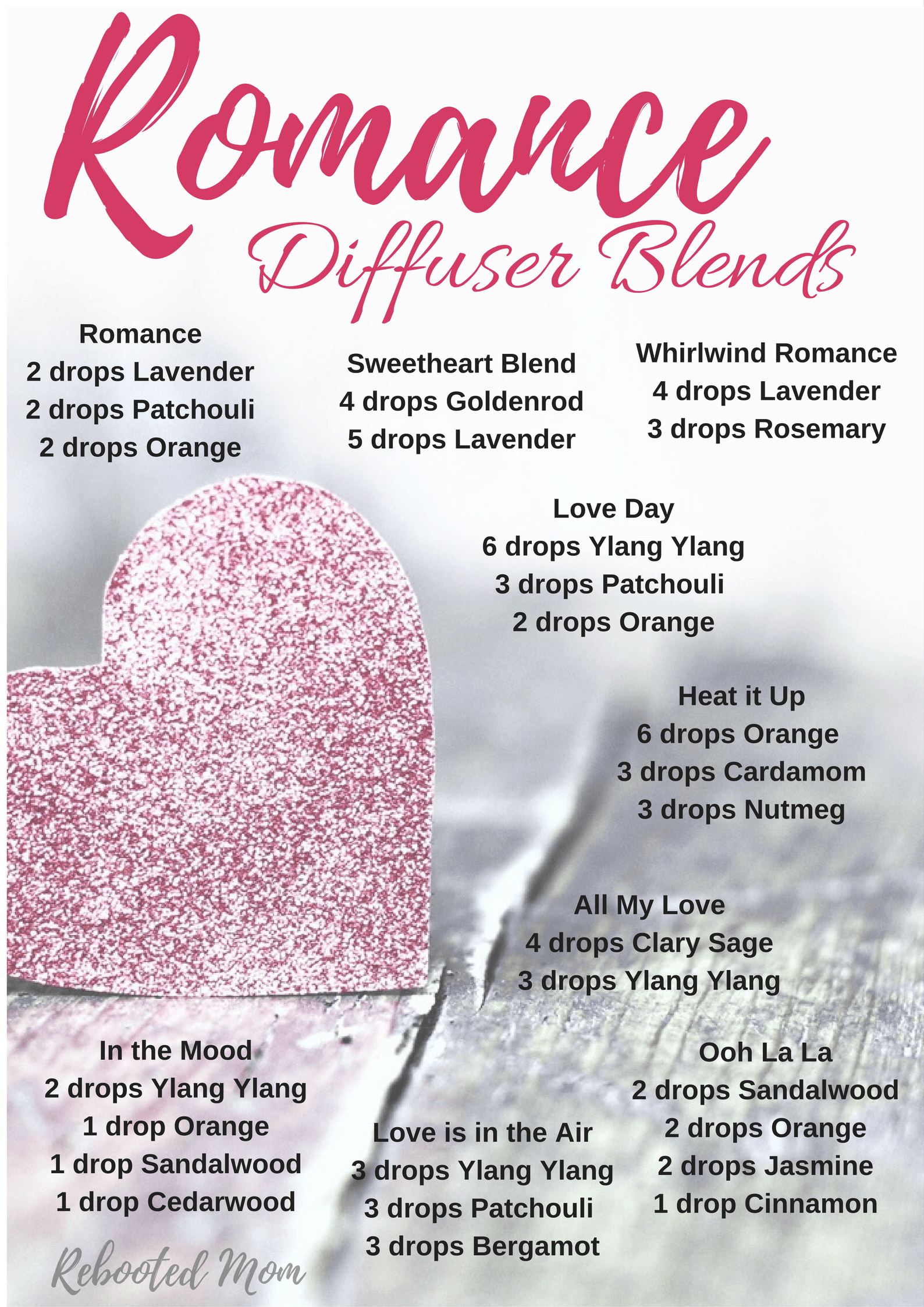 Romance Diffuser Blends Reed Diffuser Essential Oils