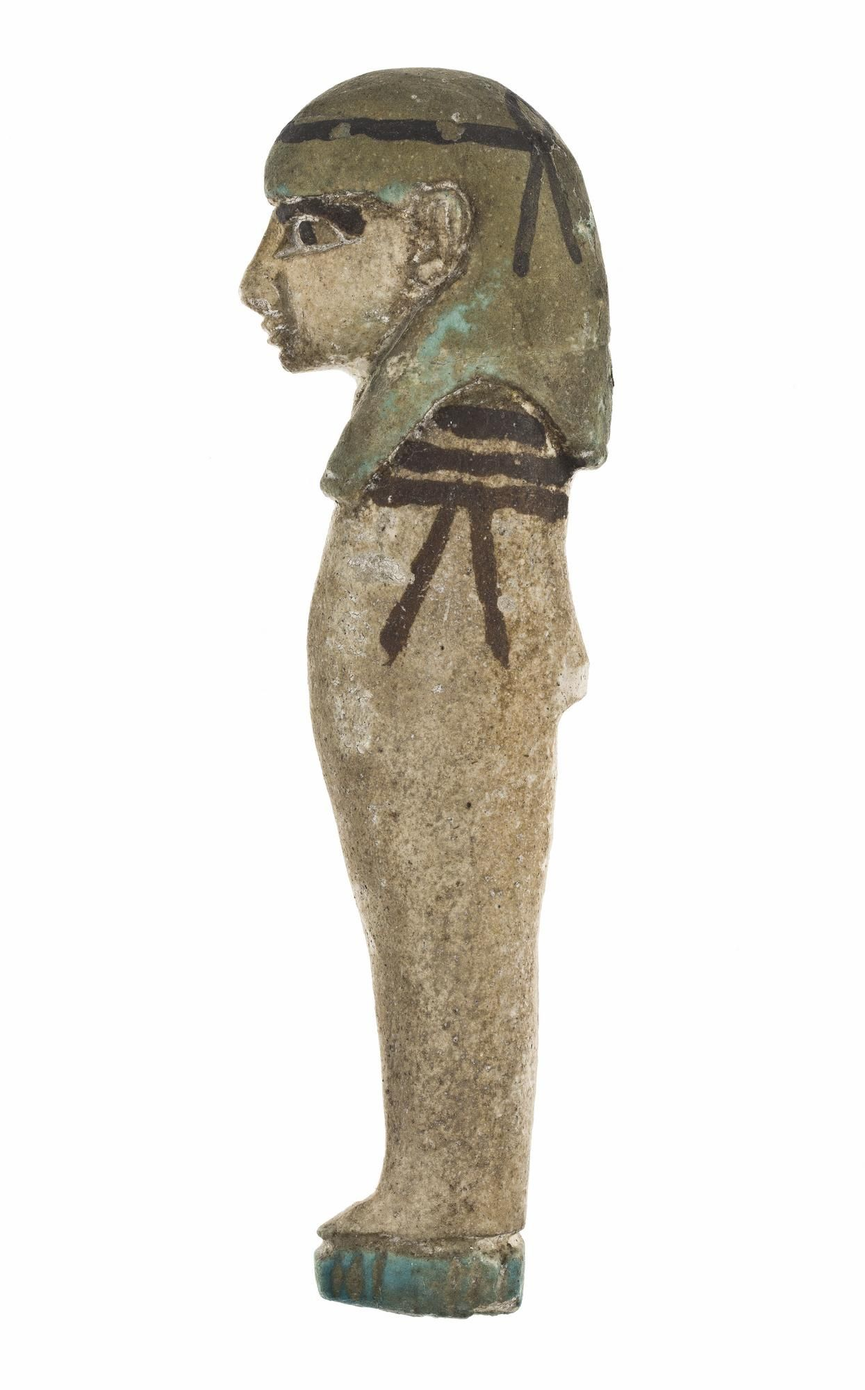 One Of A Set Of Four Amulets In Polychrome Glazed Faience