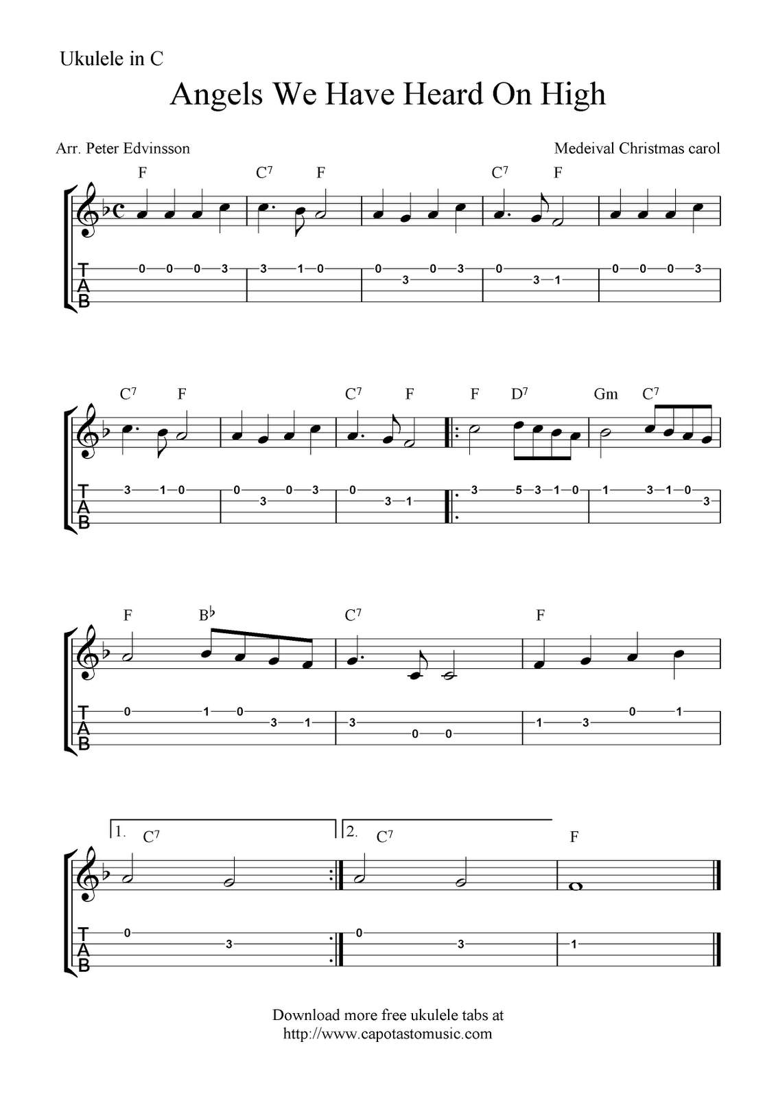 House of the rising sun listen to songs like this and more at angels we have heard on high ukulele sheet music free printable hexwebz Images