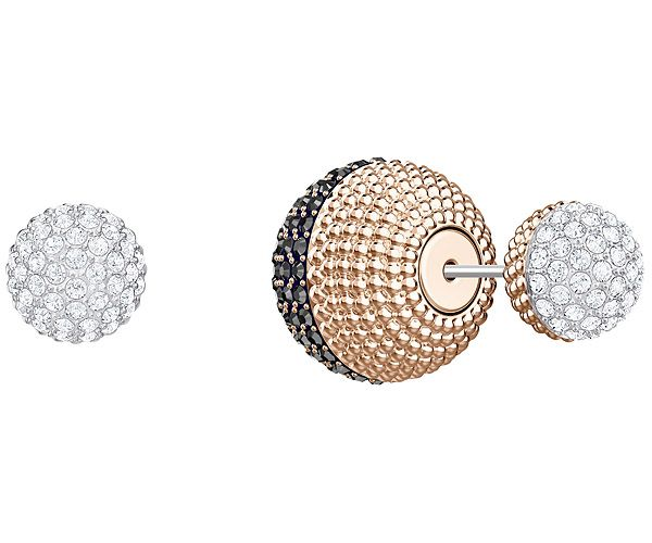 91d49ffad Lollypop Pierced Earrings, Black, Rose gold plating   Fashion ...
