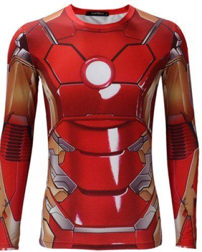 127fa7bd11 Avengers Age of Ultron Iron Man Armor t shirt long sleeve MK 45 red armor  iron man costume