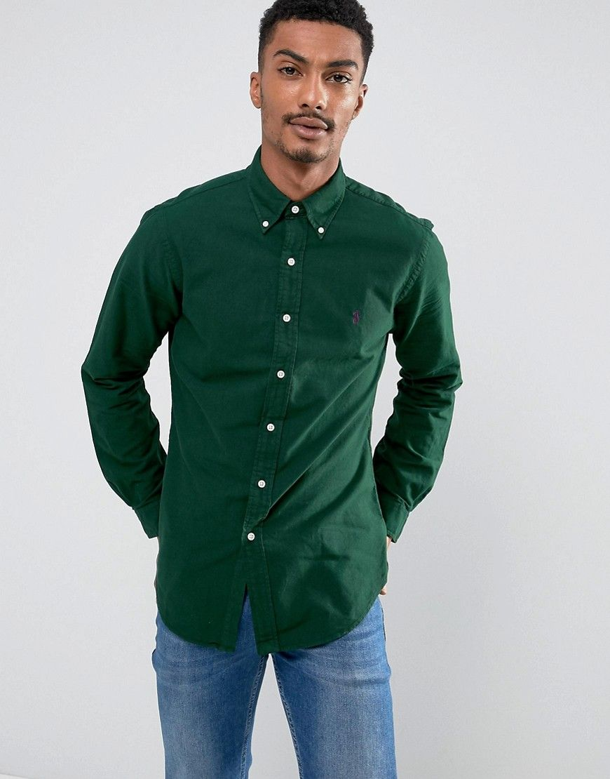 351fb15cd ... netherlands polo ralph lauren slim fit oxford shirt button down in  light green 50f13 47fa8
