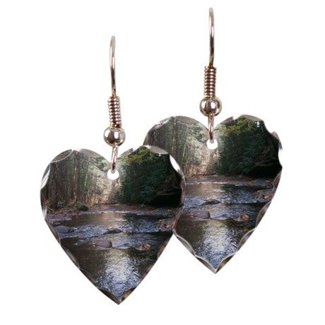 RunningRiver Earring Heart Charm