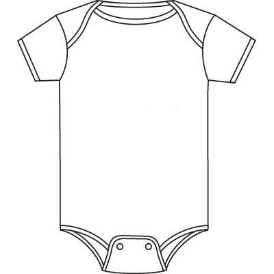 Baby Onesie Template For Baby Shower Invitations  Buscar Con