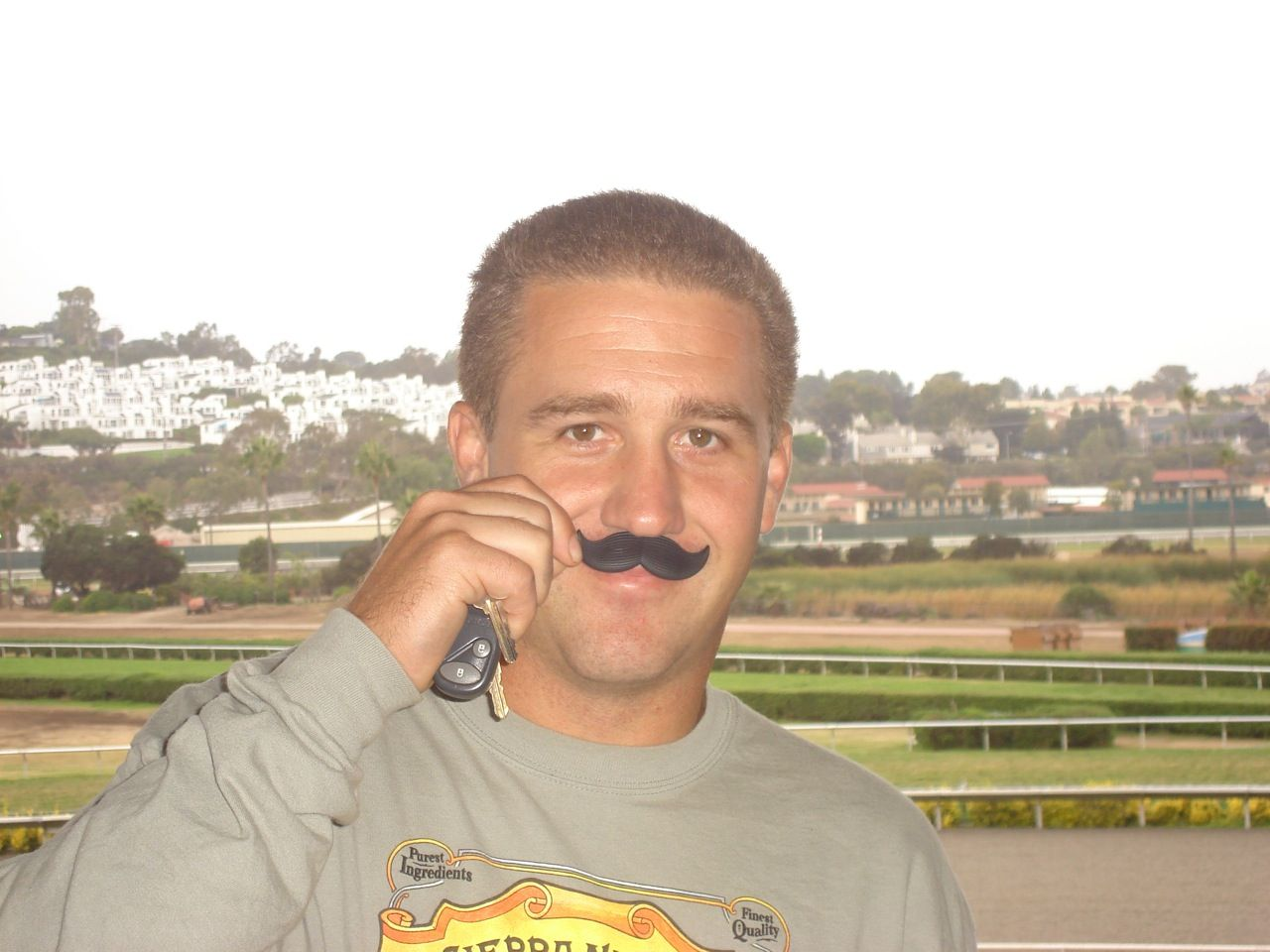 The stache hits Del Mar Race Track