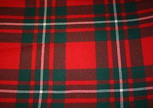 Macgregor Tartan Fabric | MacGregor Clan Modern Scottish Tartan Fabric Material | eBay