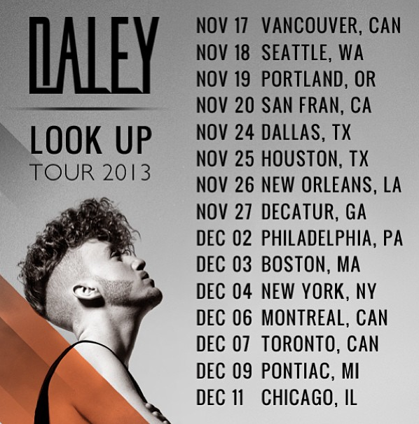 Daley Look Up Tour 2015 Dates