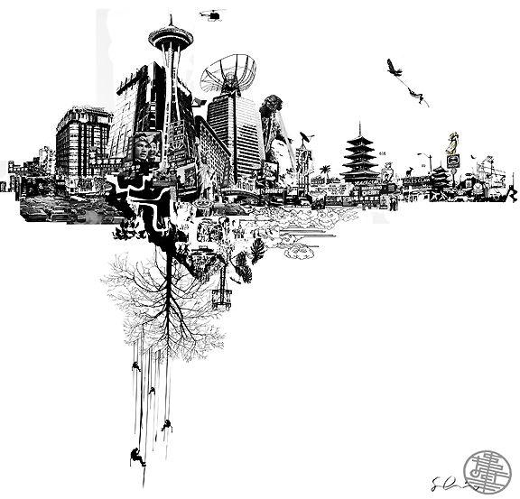 Jet City by Stefan Hofmann Briguy Art Lost in space