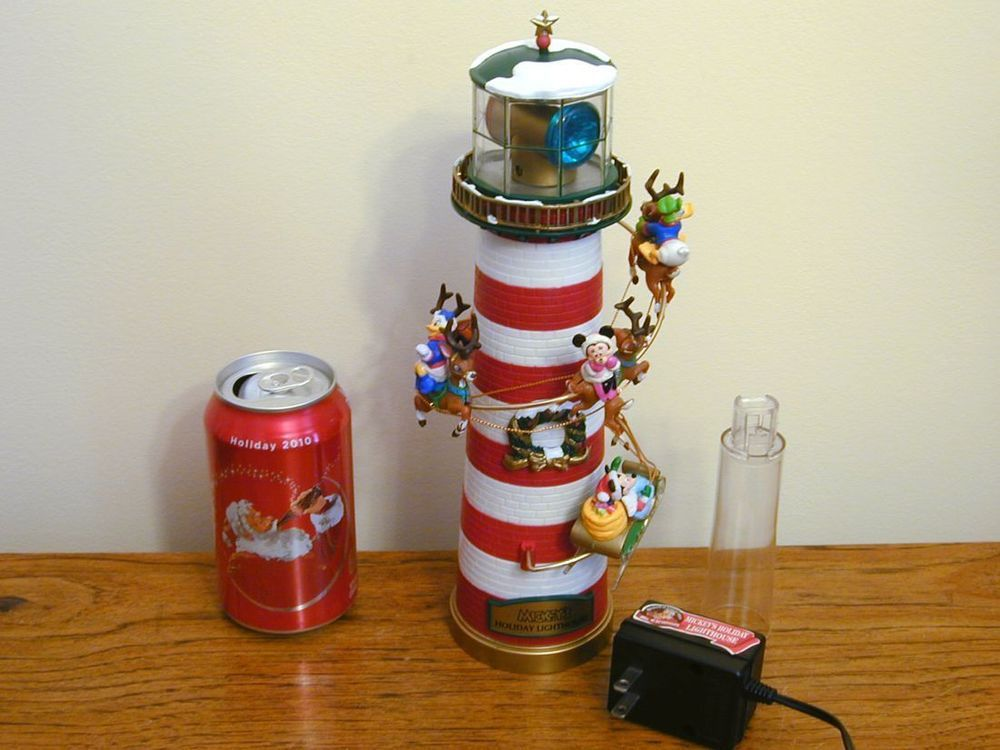 Mickey Mouse Mr Christmas Lighthouse Tree Topper Animated Lights Motion Holiday Mr Christmas Tree Toppers Holiday