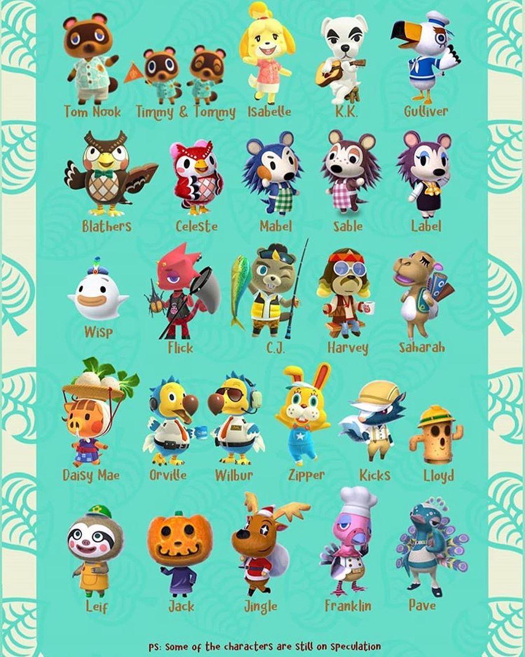 3 358 Likes 61 Comments Hi Astoria Acnh On Instagram Villager List Part 2 Missing Animal Crossing Animal Crossing Villagers Animal Crossing Game