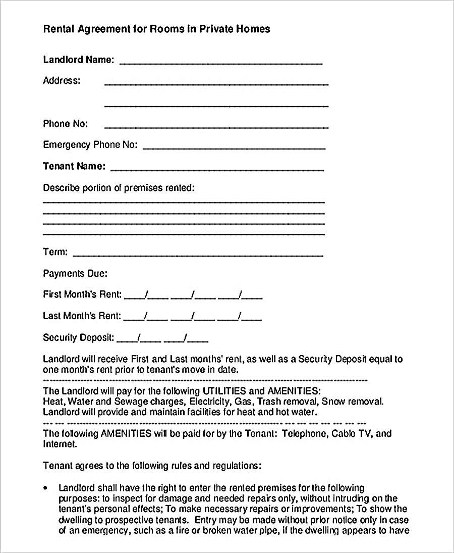9 Room Rental Agreement Template Understanding Room Rental Agreement Template Is An Important Thin Room Rental Agreement Rental Agreement Templates Rental