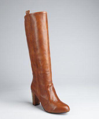 Rebecca Minkoff : dark cognac 'Sari' knee boot