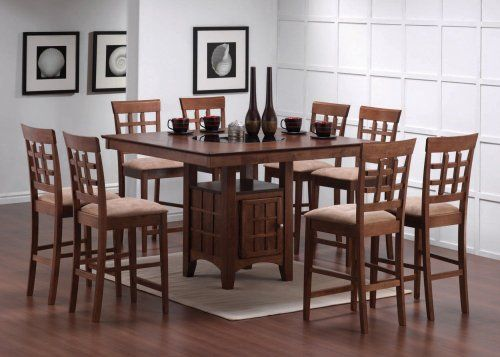 Robot Check Counter Height Dining Table Contemporary Dining Room Tables Square Dining Table Set Counter height square table for 8