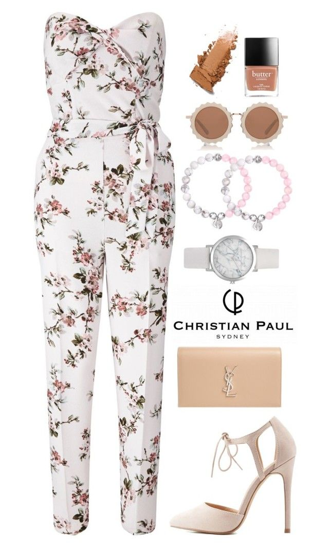 """50 days of summer - Jumpsuit style"" by isha-saxena ❤ liked on Polyvore featuring Miss Selfridge, Charlotte Russe, Yves Saint Laurent and House of Holland"