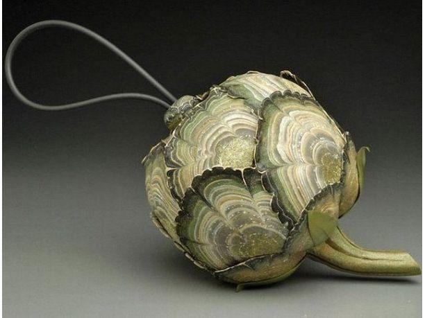 GuanjunLI borsa a tracolla Gold in metallo Decorazione a forma di ape per borse fai da te