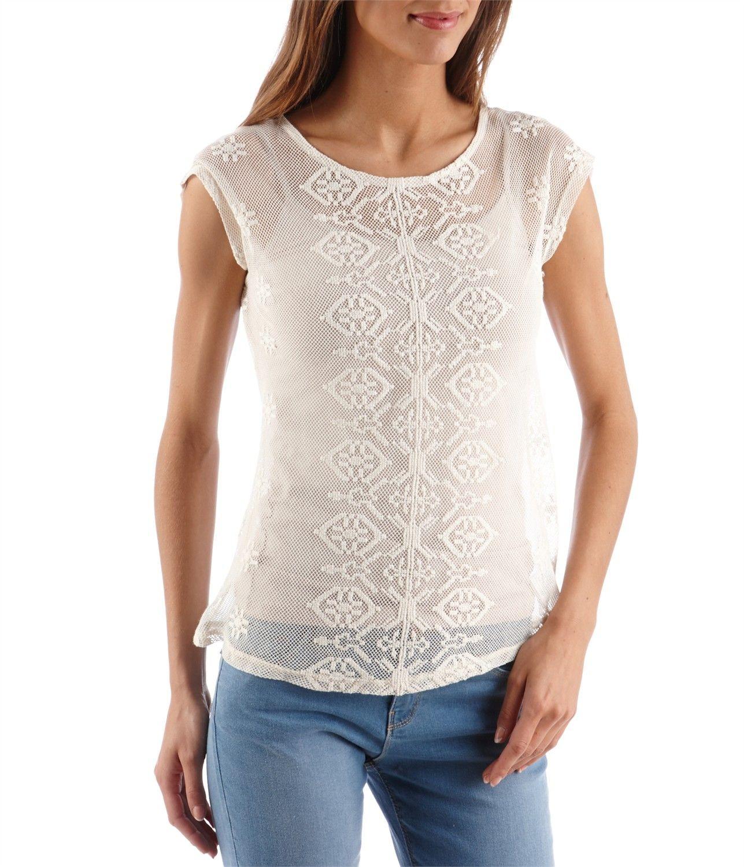 tee shirt femme dentelle
