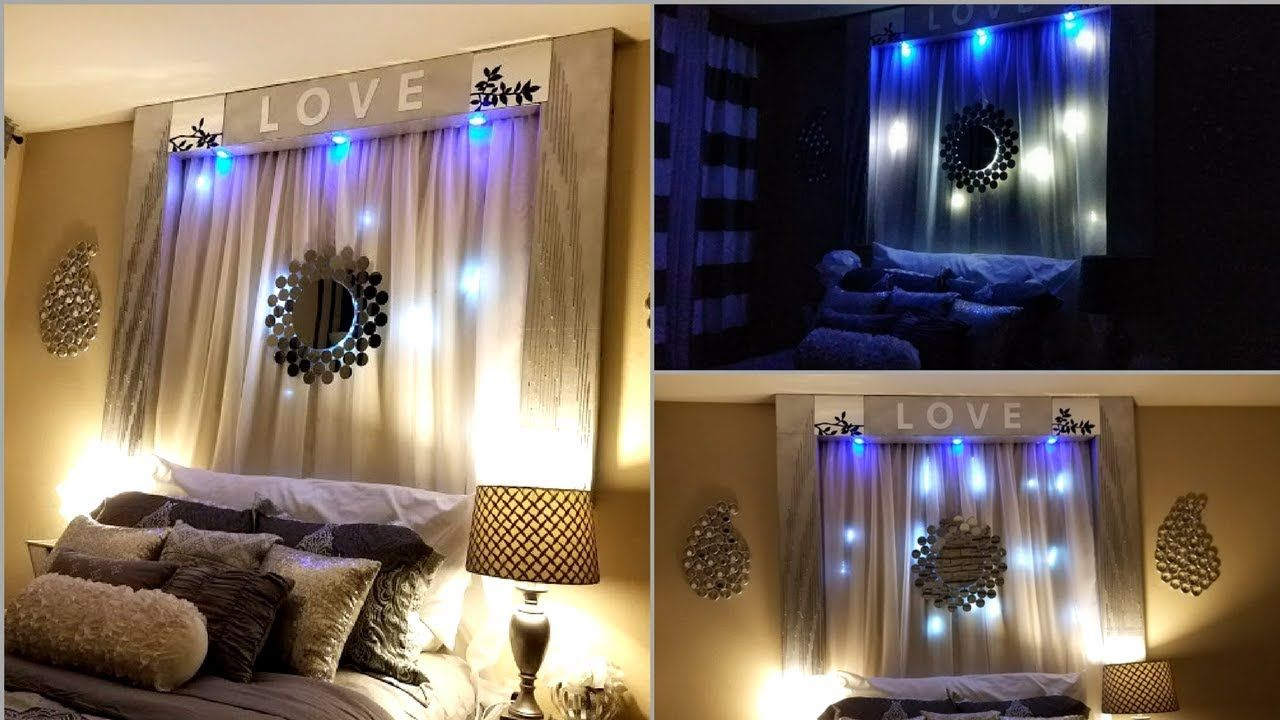 diy over the bed wall decor with lightings wall beach on wall art id=72167