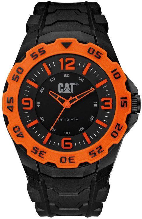 Caterpillar Men's Motion Black Orange Sport Watch   Sport