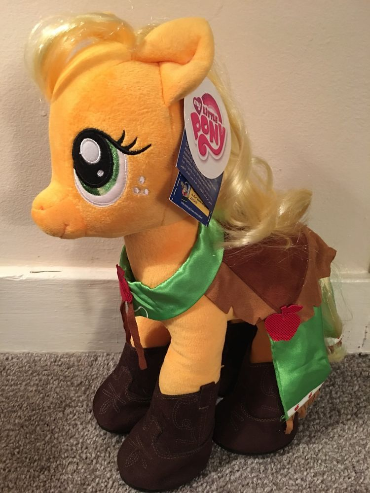 Includes Stuffed applejack Plush new with tags Gala cape dress new with tags Hat new with tags 4 cowboy boots Applejack 6 in 1 Sound in front hoof Any questions feel free to ask. | eBay!