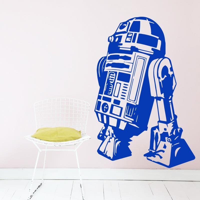 Goedkope Art Design Star Wars robot Muursticker Citaat R2 D2 Decal ...
