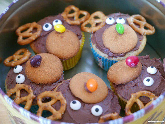 So Cute And So Yummy Reindeer Cupcakes Recipe Real Advice Gal