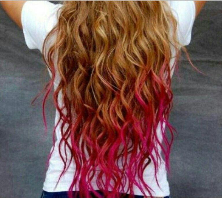 Wan this!! Hot pink dip dye!