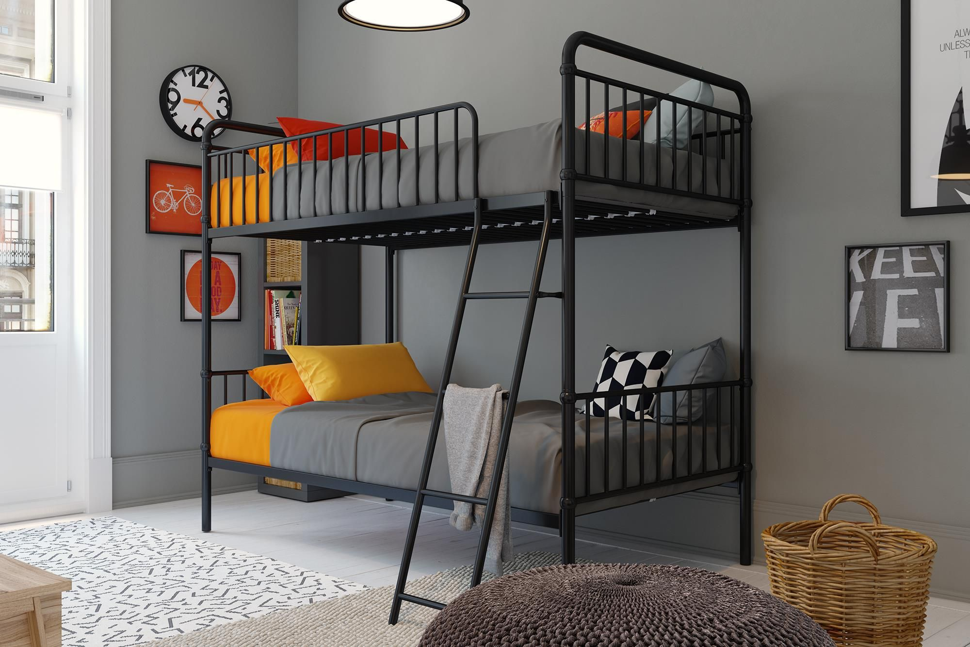 Better Homes And Gardens Kelsey Metal Bed Twin Black