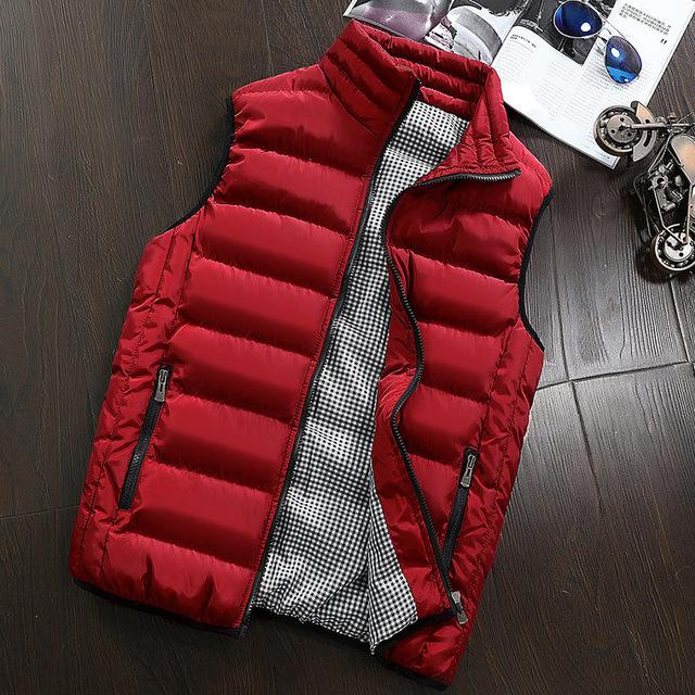 d3c24cc57d5aa BingChenXU Brand Unisex Windbreaker Autumn Sleeveless Jacket Army Style Vest  Zip Up Pockets 419 Quilted Vest