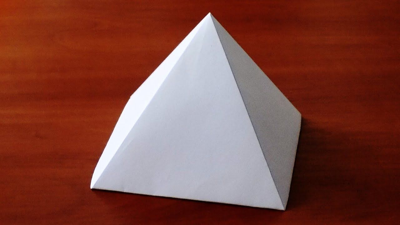 How To Make Paper Pyramid Very Easy Diy Crafts How To Make Paper Pyramids Paper Wall Art Diy