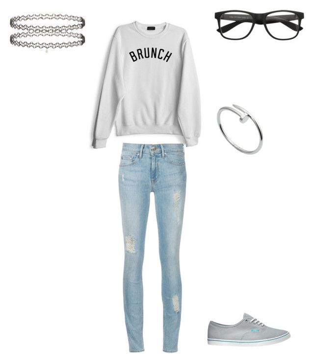 """""""#brunch """" by littlewonder2504 ❤ liked on Polyvore featuring Private Party, Vans, Cartier and Miss Selfridge"""