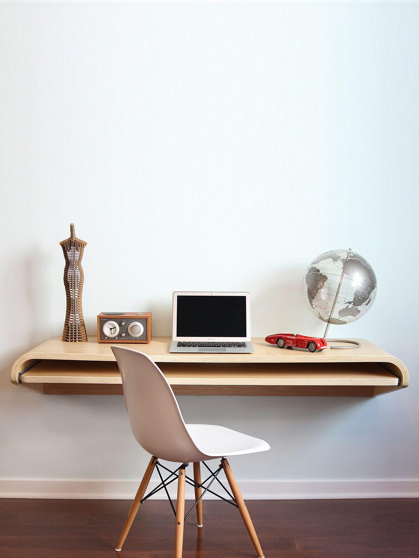 Float Desk Rift Oak Gilt Home Minimal Wall Desk Wall Desk Floating Wall Desk