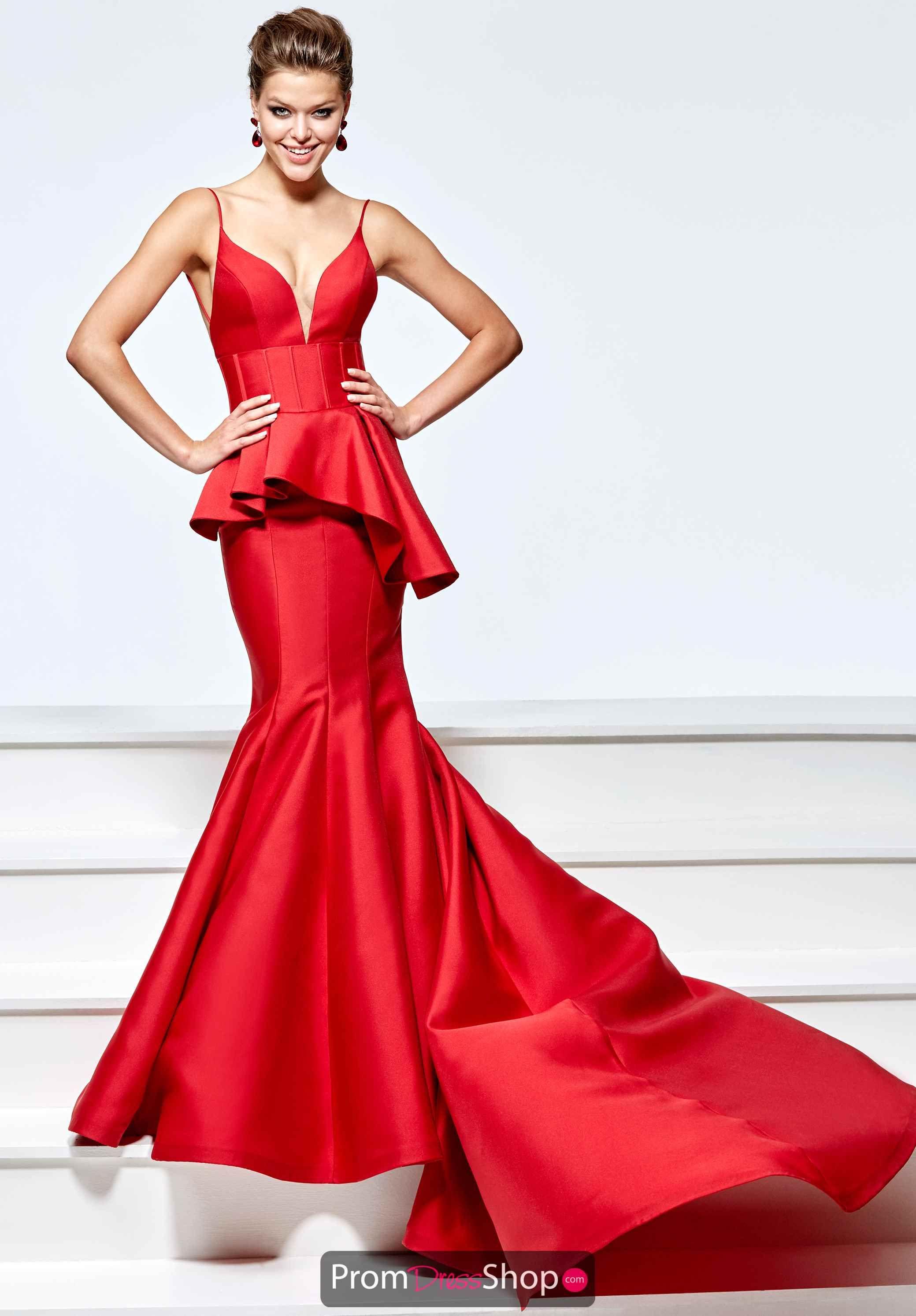 Tarik ediz sweetheart long dress red hot pinterest
