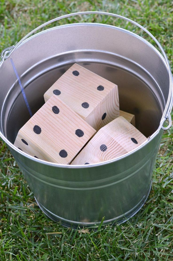 diy giant yard yahtzee is going to be the backyard game of the