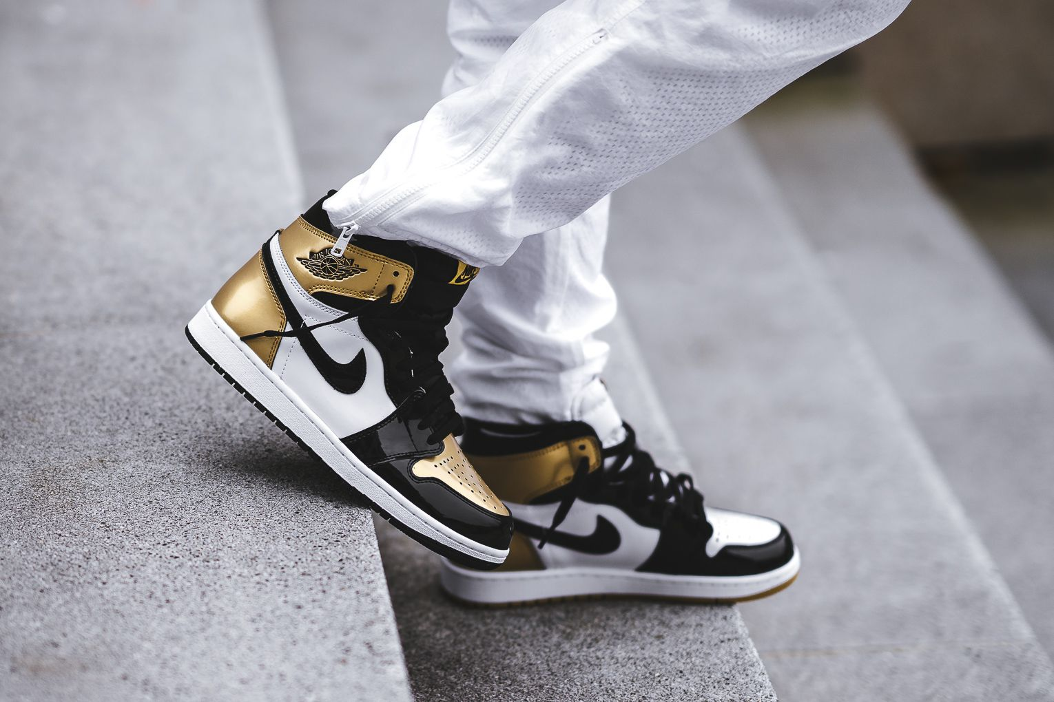So, Who Scored A Pair Of The Air Jordan 1 Retro High OG Gold Top