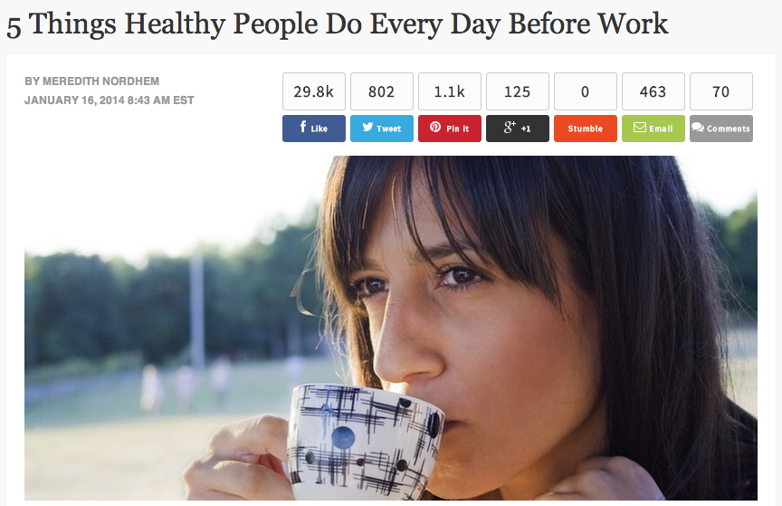 5 things healthy people do every day before work