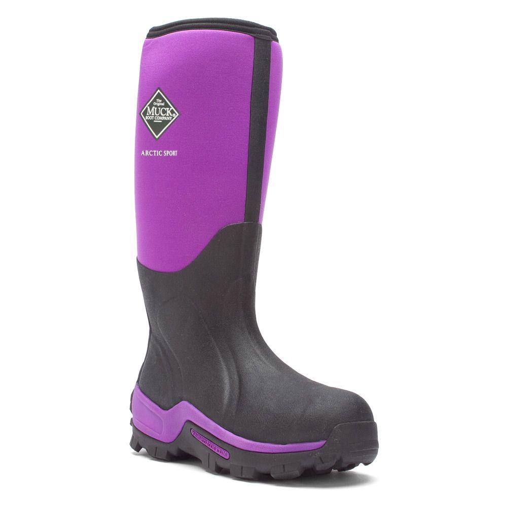 $108.00 Women\'s Purple The Original Muck Boot Company Arctic Sport Hi Shoes