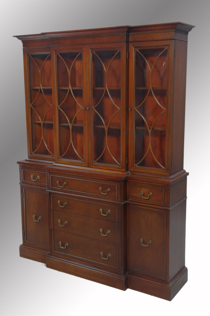 Antique Cabinets With Glass Doors Antique Mahogany Breakfront
