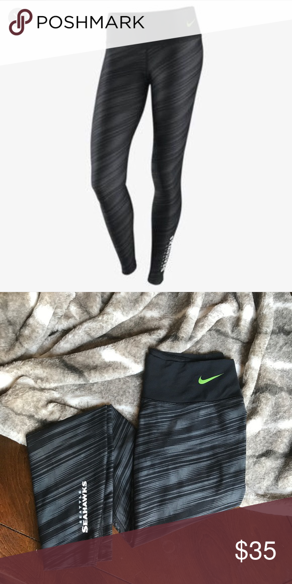 bbb1c73a8897d Nike Warpspeed Legend drifit Seahawks legging NFL Cheer for your favorite  team in style with these excellent, thick and stylish leggings! Go Seahawks!