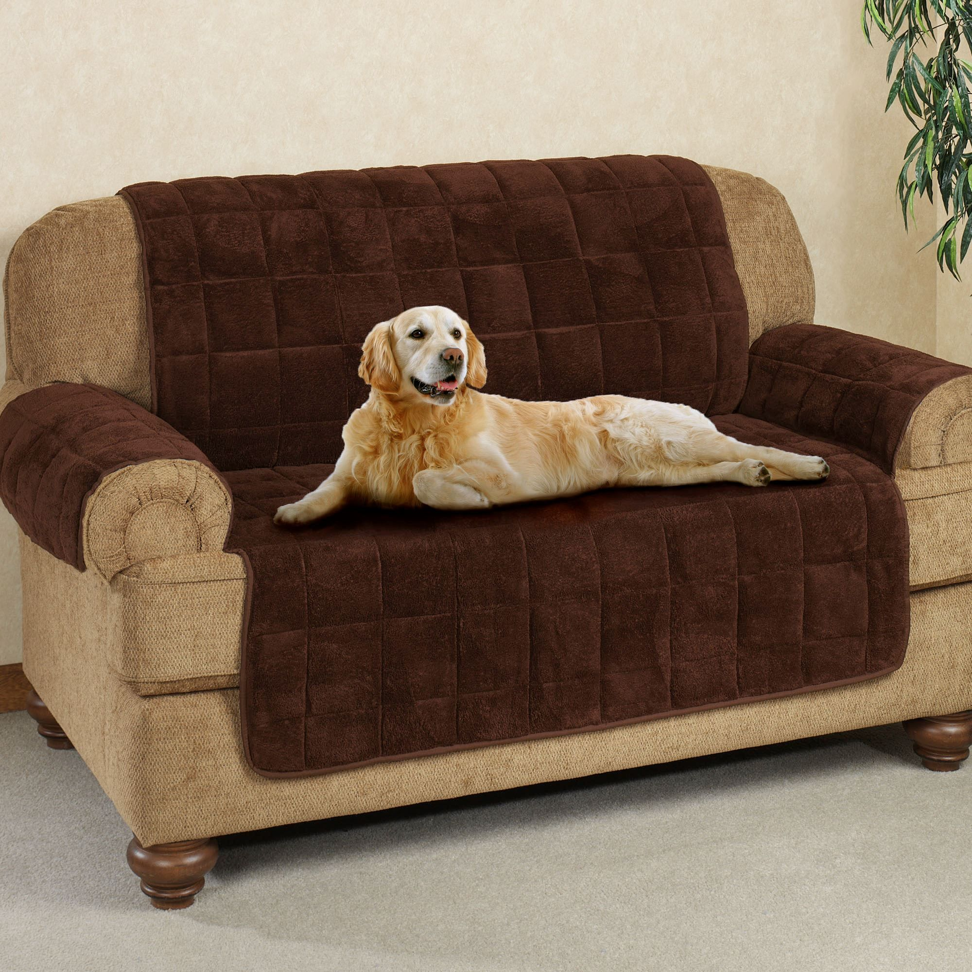 Microplush Pet Furniture Covers With Longer Back Flap Pet Sofa